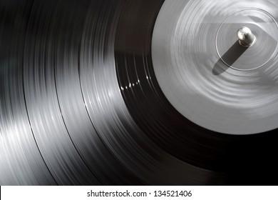 vinyl LP record close up