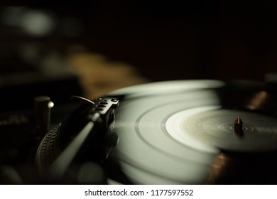 Vinyl and needle close up