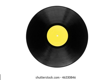 vinyl plate isolated on white