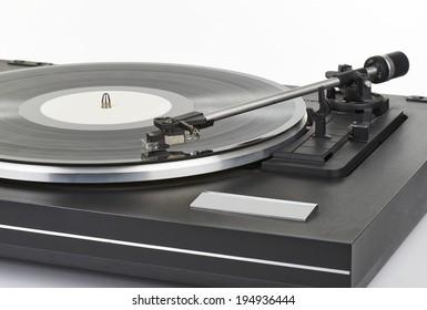vinyl player arm on white background