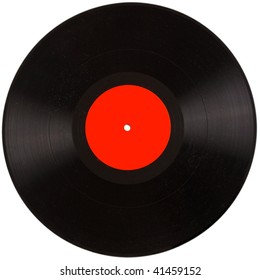 the vinyl record with dust. vintage