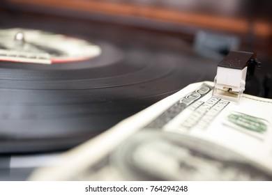 Vinyl Record And Money