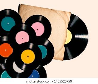 Vinyl record on a white background.