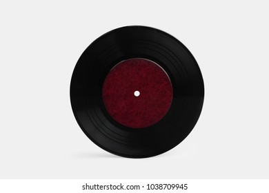 Vinyl record over white background