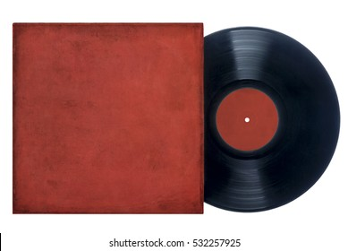 Vinyl Record with Red Sleeve