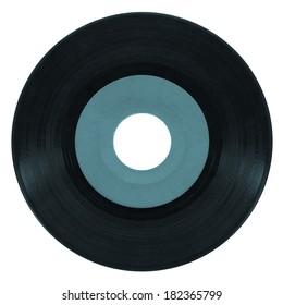 Vinyl record vintage analog music recording medium - cool cyanotype