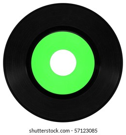 Vinyl record vintage analog music recording medium