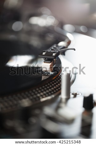 Vinyl Records Player Plays Music Disc Hipster Stock Photo Edit Now