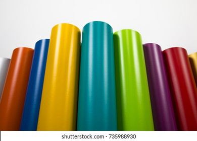 Vinyl rolls of many colors