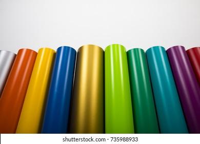 Vinyl-Rollen in vielen Farben