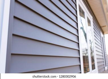 vinyl siding texture and window