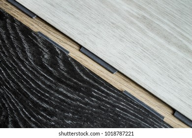 Vinyl strips for laying on the floor. Floor coverings.