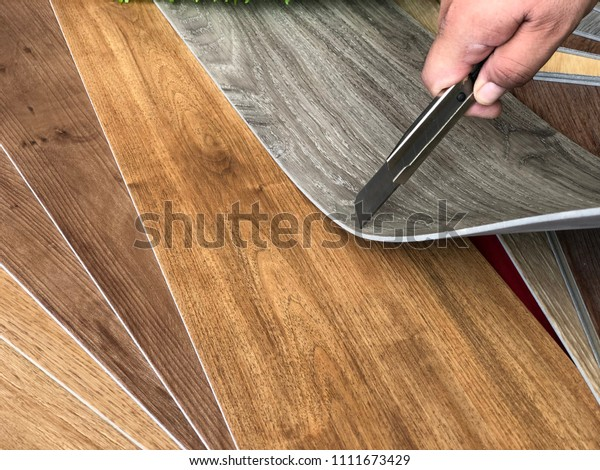 vinyl tiles series collection : Home DIY decoration concept for changing vinyl flooring by very easy to cutting vinyl sheet