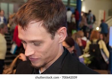 Vinzenz Kiefer, actor, signing autographs at the Frankfurt Bookfair / Buchmesse Frankfurt 2010 in Frankfurt am Main, Germany