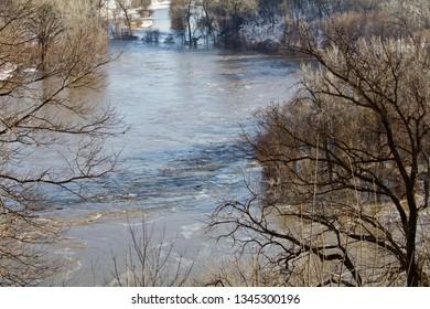 Violent Water Floods Minnesota River