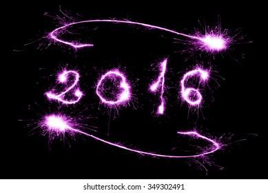 violet 2016 written with Sparkle firework