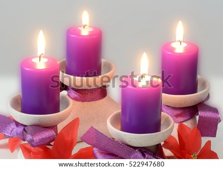 violet advent wreath the official color for the season of advent is violet with