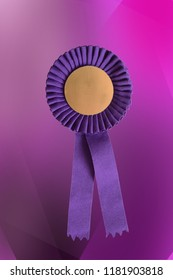 Violet cockade with blank space on purple background