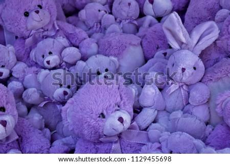 Violet Color Stuff Toys Stockfoto (Jetzt bearbeiten) 1129455698 ...