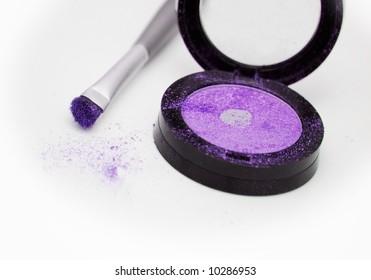 violet eyeshadow on white