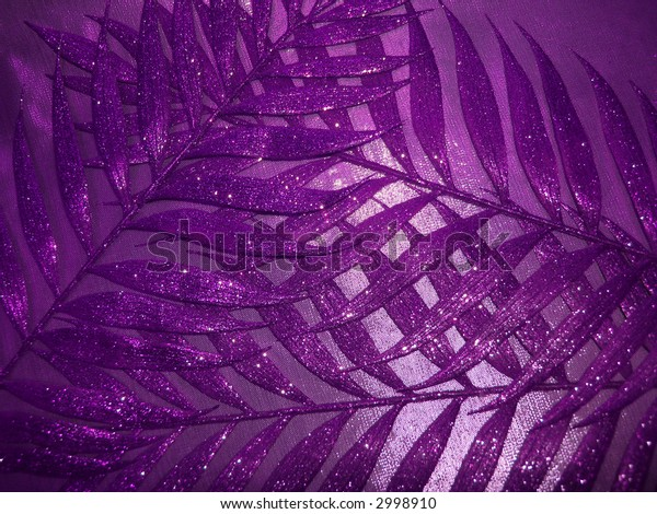 violet fabric texture and leaves for background