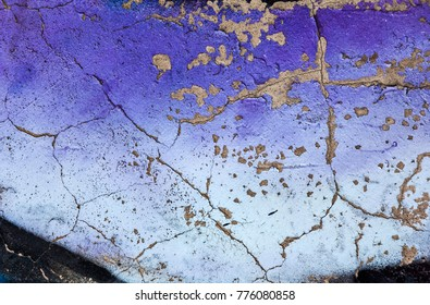 Violet painted concrete wall