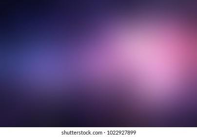 Violet pink glare twilight abstract texture. Dark vignette. Empty night gleam background. Blurred purple cosmic template. Defocused glow pattern.