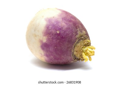 Violet radish, isolated