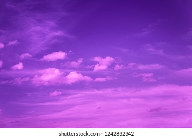 violet sky with clouds, neon dramatic background