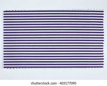 Violet Striped fabric sample swatch with zigzag border