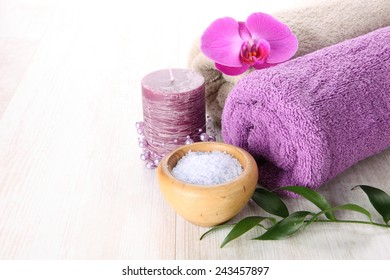 Violet tone spa theme with flower