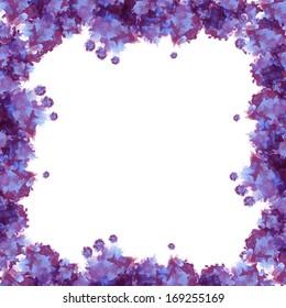 Violet watercolor frame useful for background