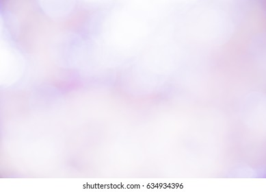 Violet and white bokeh background from natural