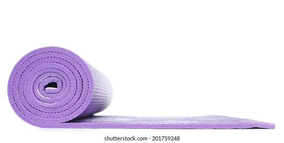Violet Yoga Floor Mat in White background