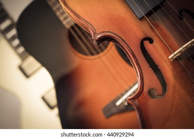 violin, acoustic & electric guitar for music background