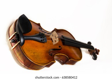 Violin against a white backdrop