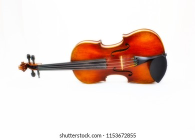 A violin against a white background.