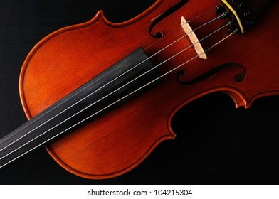 Violin with black background