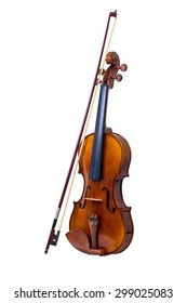 Violin and violin bridge on isolated White background,with Clipping Path