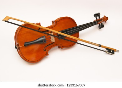 Violin for classic music isolated