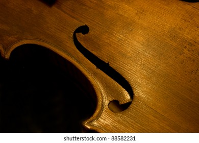 Violin detail f hole