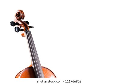 Violin head  on white background - abstract music concept