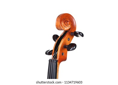 Violin head on white background
