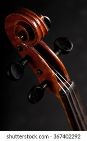Violin isolated on black background.