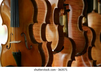 violin maker's studio. He's eighty three and still making instruments