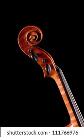 Violin   on black background - abstract music concept