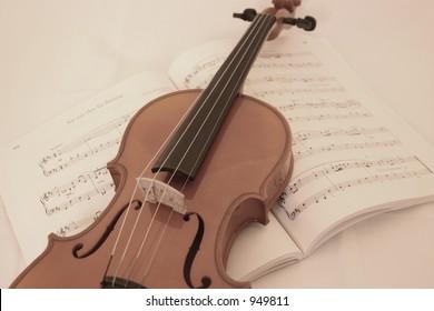 Violin on songbook