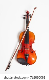 Violin on a white background isolated
