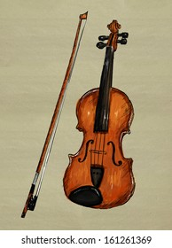 Violin Painting Image - music background