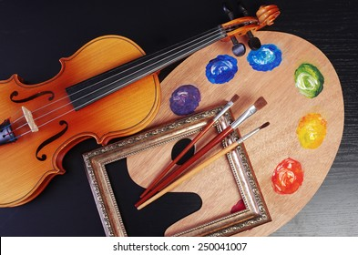 Violin and palette